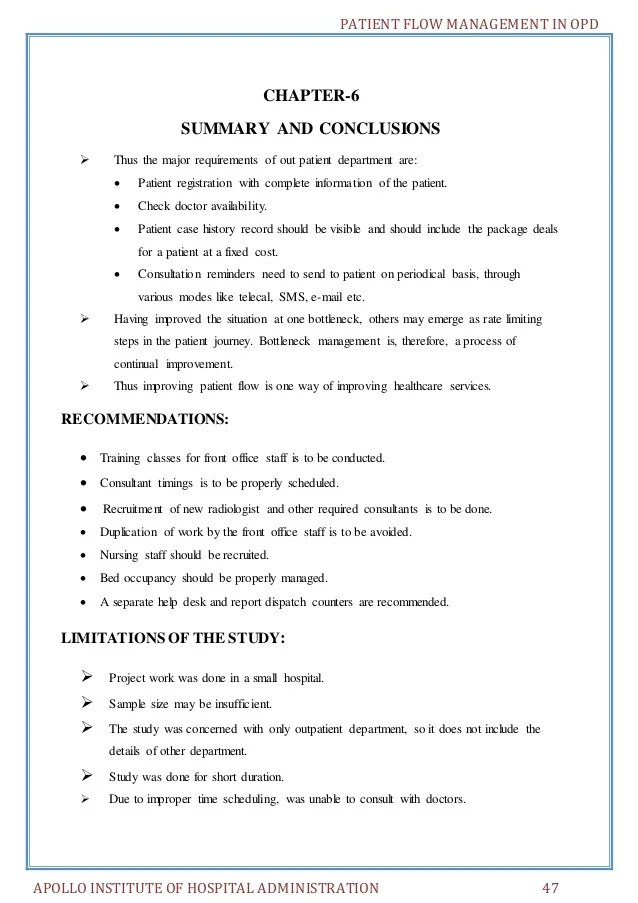 Project Management Executive Resume Example Patient Flow Management In Opd