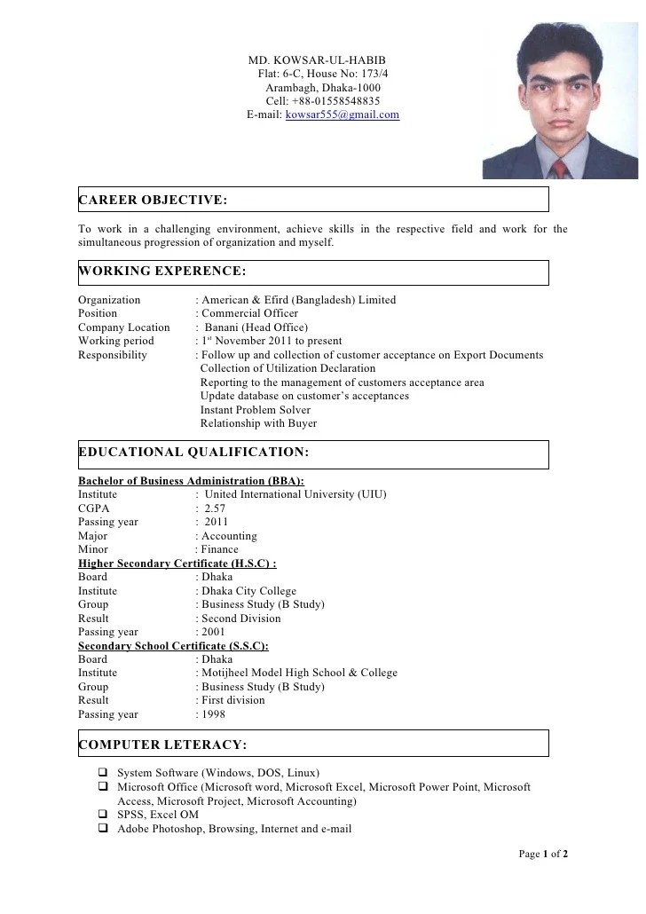 Cv Samples And Hr Faq Download Now Final Cv With Photo
