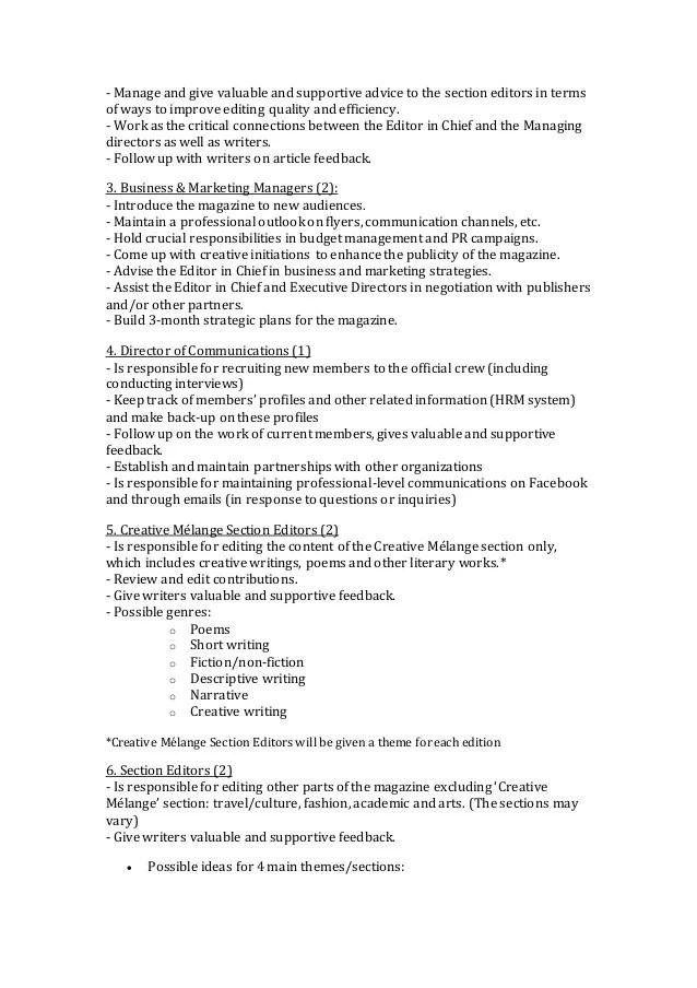 Magazine Editor Job Description ophion - executive editor job description