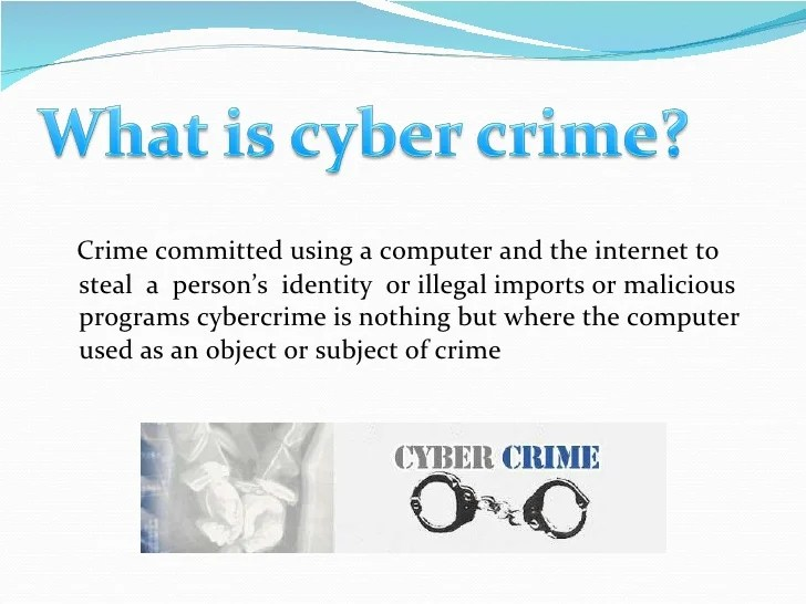 Mode And Manners Of Committing Cyber Crime Information
