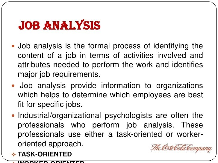Job Description Analysis Example  Ocs Resume Writing General Tips