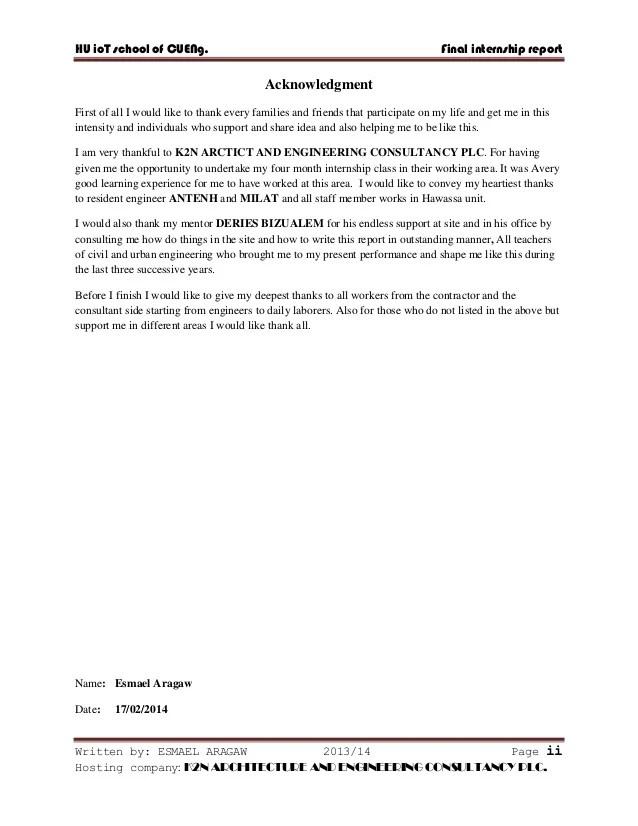 Finance Internship Cover Letter Samples Internships Internship Report On Building Construction