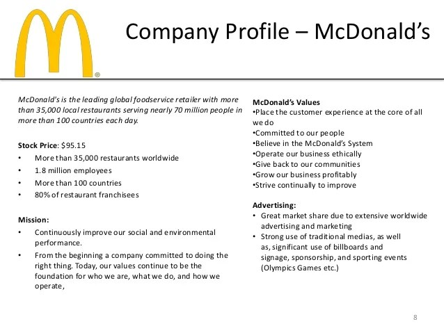 Company Profile Templates Samples In Word Project Panera Bread Media Plan