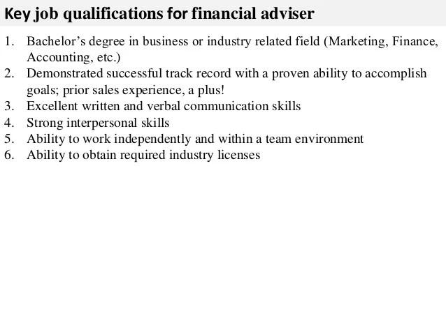job description for a financial advisor - Artij-plus