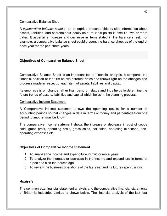 Financial Statement Wikipedia Financial Analysis Britannia Industries Ltd