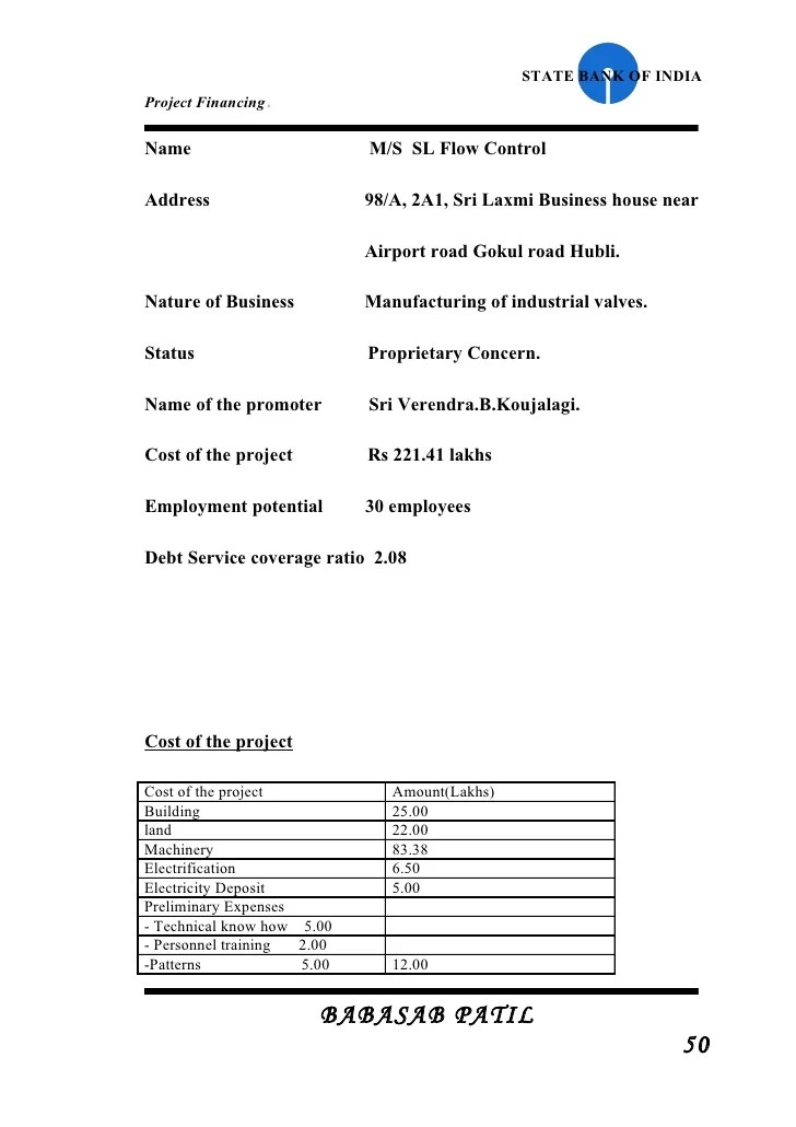 project report format for bank loan - Gottayotti