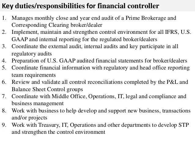 Controller Job Description | Assistant Controller Job Description Acepeople Co