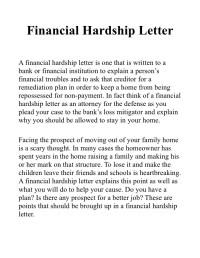 Sample Letter Undue Hardship Taxes | Sample Business Letter