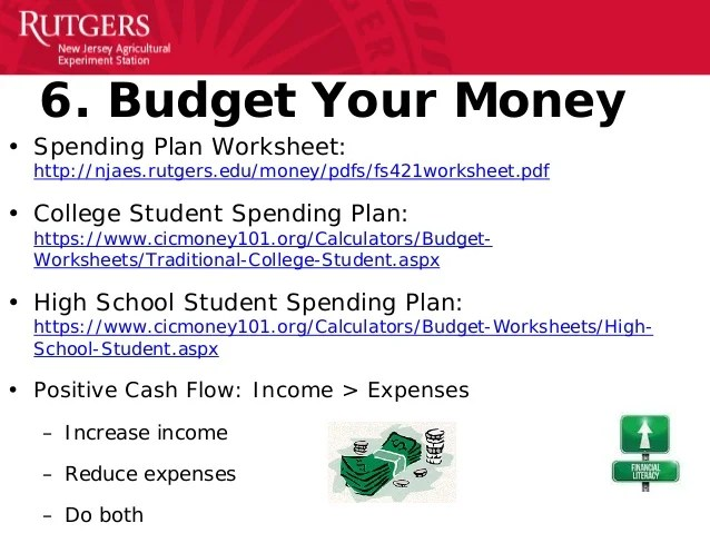 basic budget worksheet college student - Alannoscrapleftbehind
