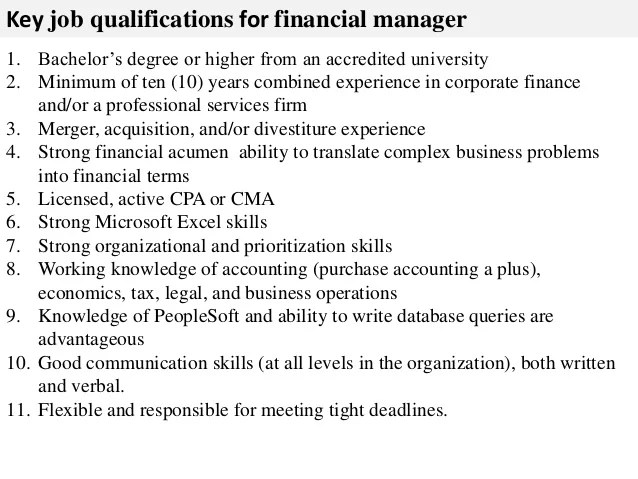 duties of finance manager - Ozilalmanoof