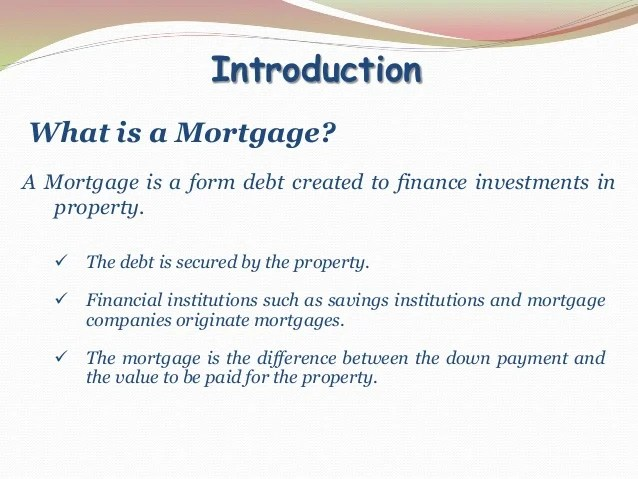 Mortgage Markets (Financial markets & institution)