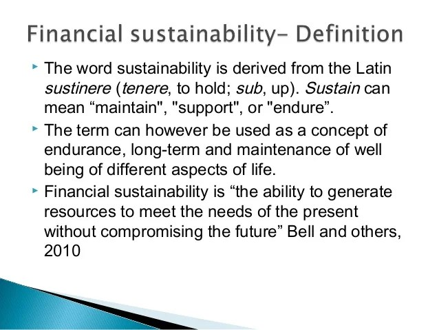 Financial sustainability of public benefits organizations