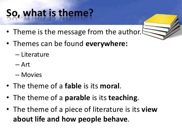 Theme In Literature Essay Themes In Literature Essay