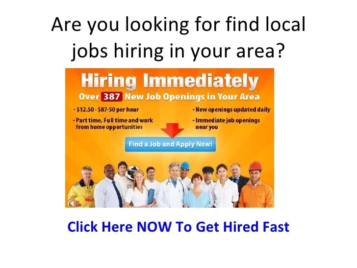 jobs in local area
