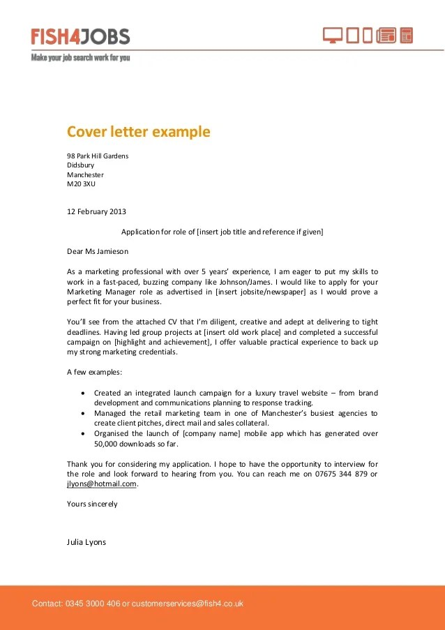 Cover Letters Examples | Resume Format Download Pdf