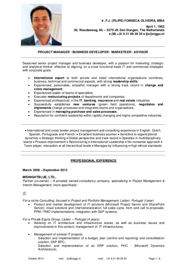 Resume mckinsey example