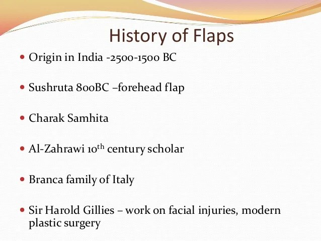 Flaps In Plastic Surgery