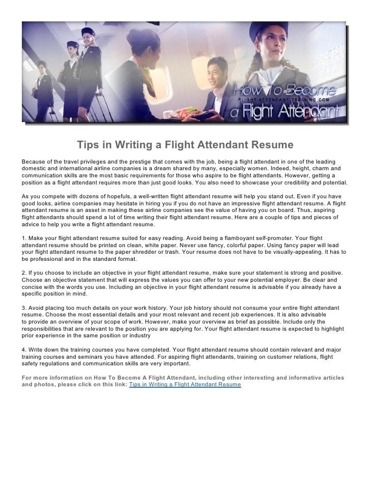 flight attendant resume no experience