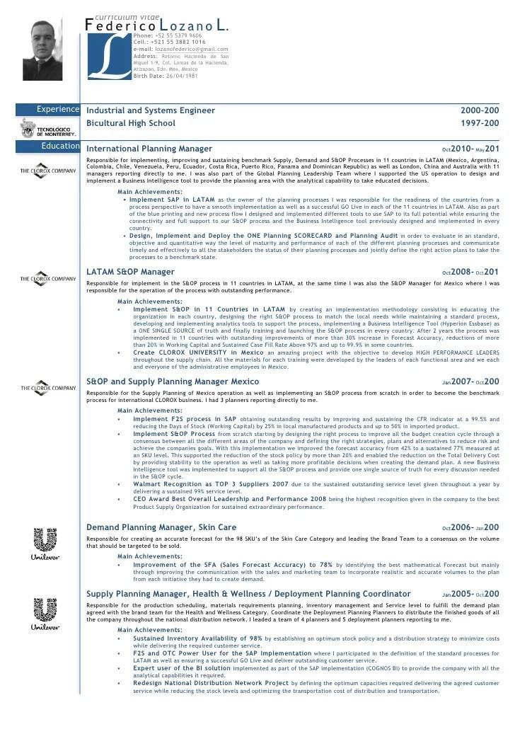 cv english resume