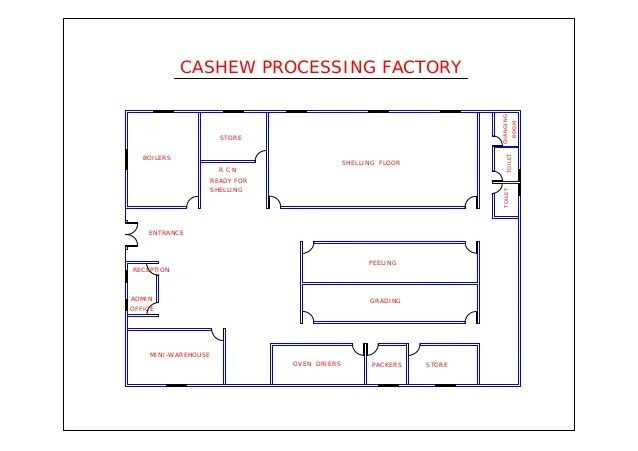 Floor Plan For Cashew Factory By Sotonye Anga