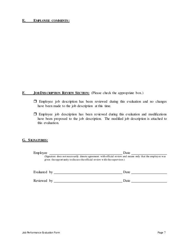 Employee Evaluation Form Rocket Lawyer Food And Beverage Assistant Perfomance Appraisal 2