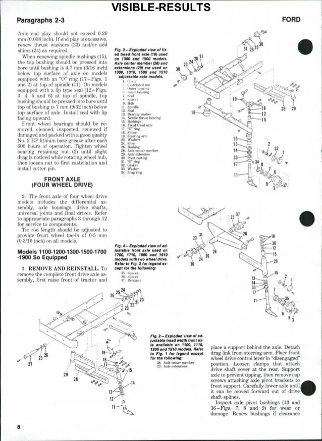 1100 Ford Tractor Wiring Diagram Ford 1900 Tractor Service Repair Manual