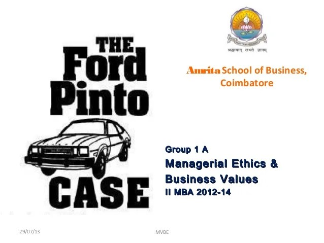 Case Study Ford Pinto Youtube Case Analysis Quot;ford Pintoquot;