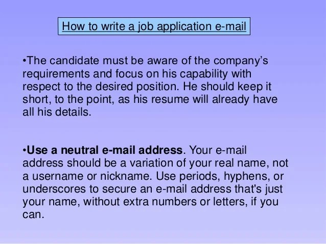 Job Application Letter Email Subject Writing Your Job Application Letter Example And Tips Applying For A Job E Mail