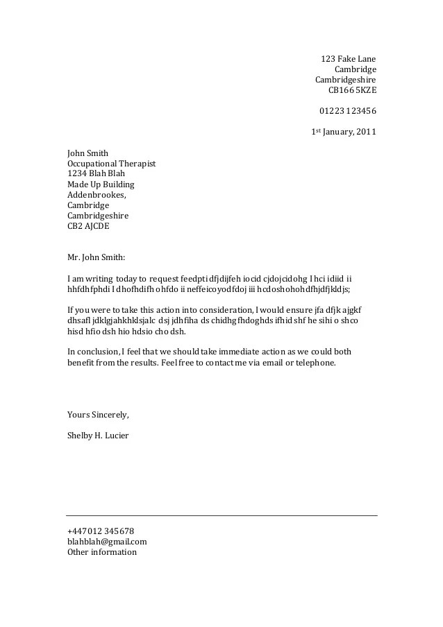 official letter format template - Josemulinohouse - official letter