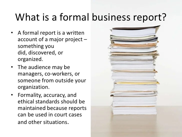 format of a formal report - Alannoscrapleftbehind - format for a business report