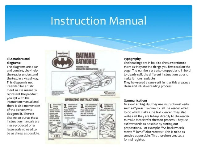 instruction manual example - Onwebioinnovate - instructional manual