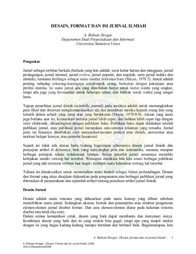 Jurnal Penelitian Pendidikan Journal Universitas Negeri Yogyakarta Format Jurnal Ilmiah