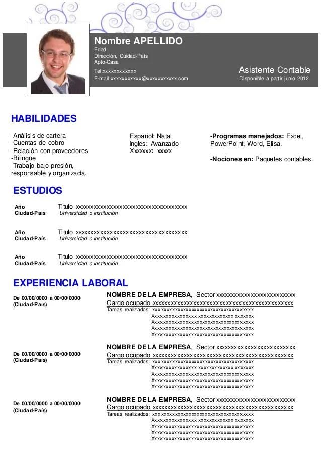 ejemplos de curriculum vitae formato sample resume service