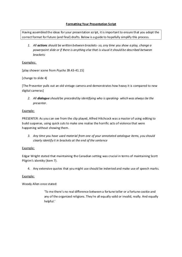 screenplay sample - Apmayssconstruction