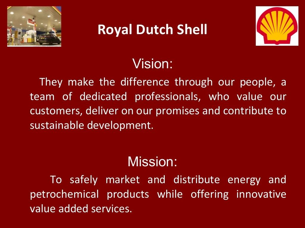 Vision And Mission Statements Auto Electrical Wiring Diagram Club Car Gcor Royal Dutch Shell They