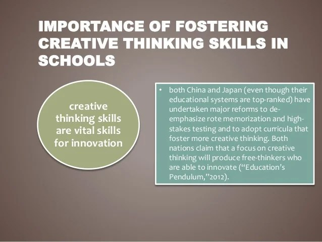 Test 1 Higher Education Fostering Creative Thinking Skills In College Students