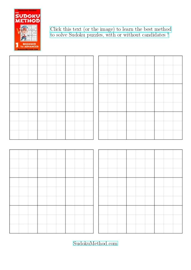 Blank Sudoku - Free HD Images