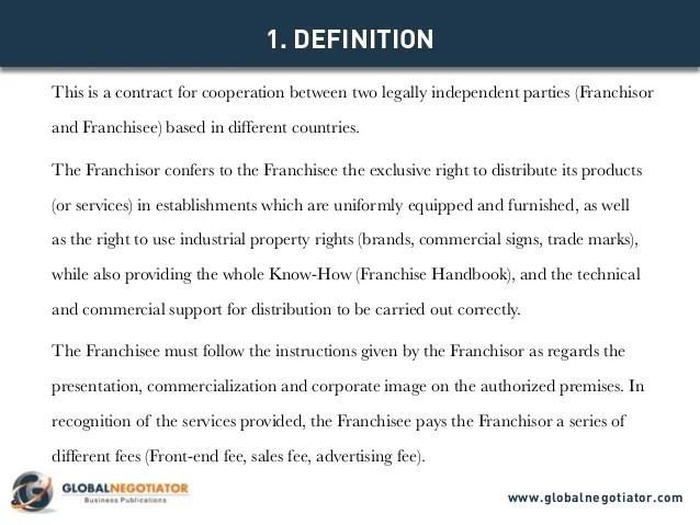 franchise contract samples - Alannoscrapleftbehind