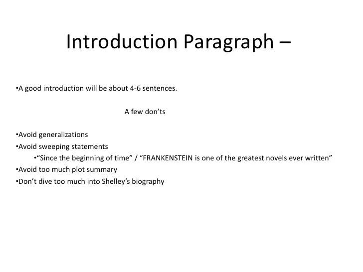frankensteins essays