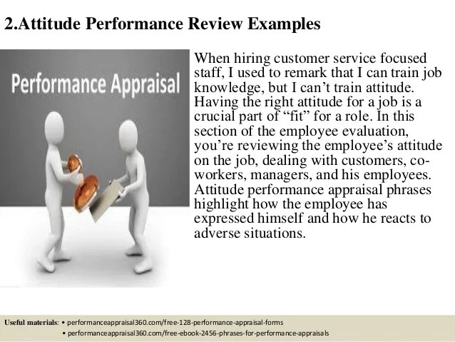 performance review customer service phrases