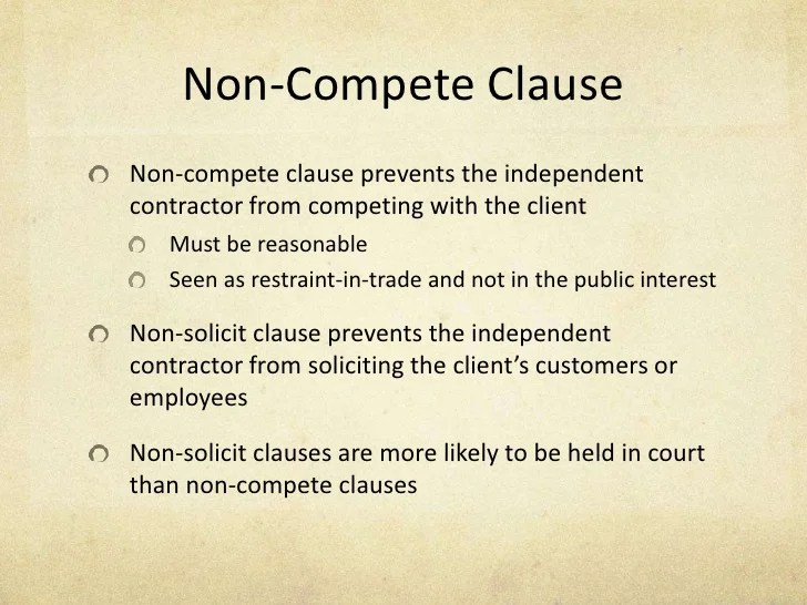 Sample Non Compete Agreement - sarahepps -