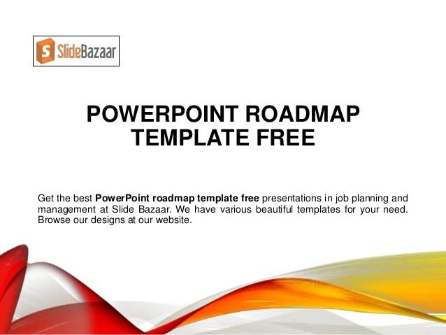 powerpoint roadmap template free - Kubrakubkireklamowe