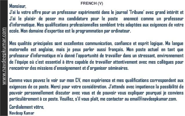 Application For School Teacher Job Free Samples French Letter Job Application