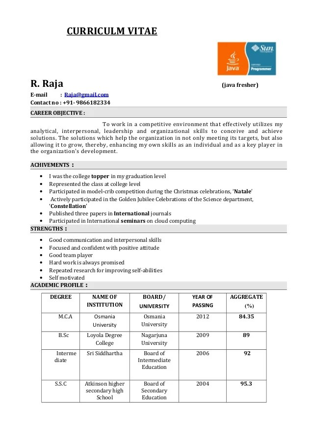 sample template of an excellent fresher resume my first resume enchanting download resume templates free - My First Resume Template