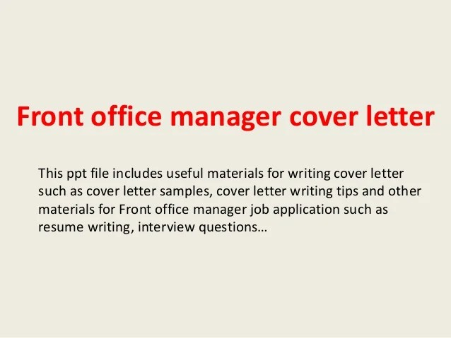 Online Writing Lab Site Map Owlenglishpurdueedu Front Office Manager Cover Letter