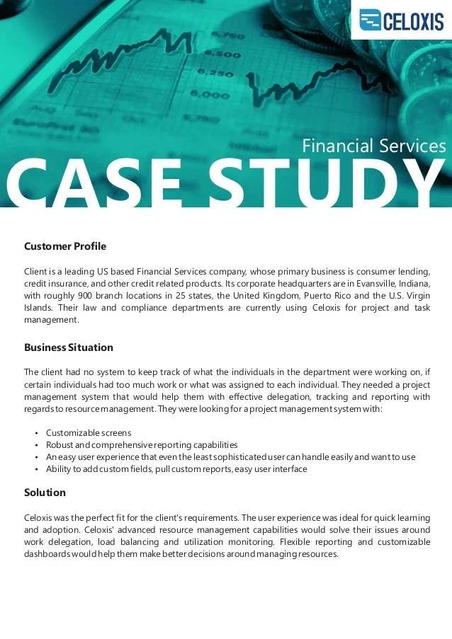 Business Case Study Examples Advids Celoxis Client Case Study Financial Services