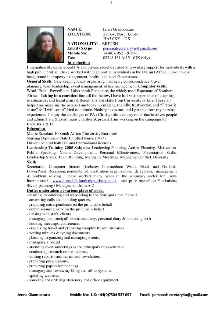 Mobile Device Support Technician Specialist Resume Full Cv With Introduction April 2011