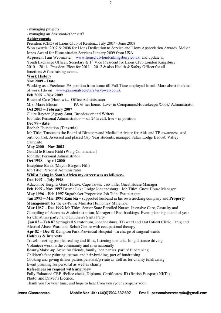 bibliography modern cv