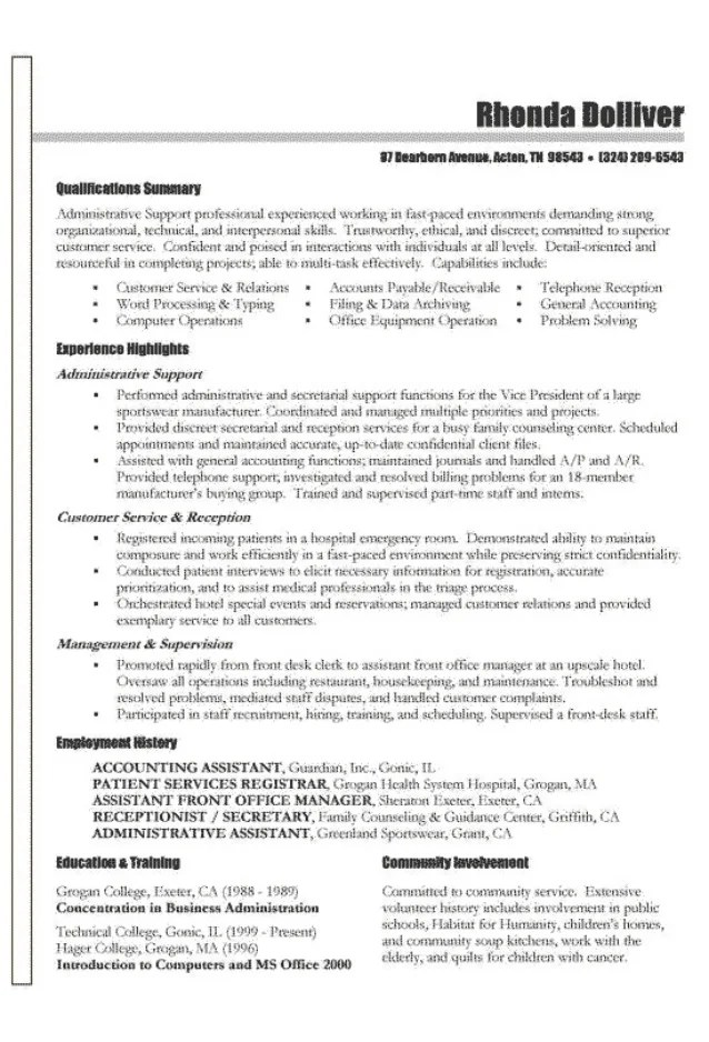 accounting functional resumes - Intoanysearch
