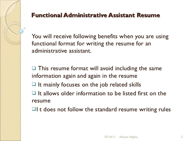 Position Sought In Resume Independent Bible Church Functional Administrative Assistant Resume 9